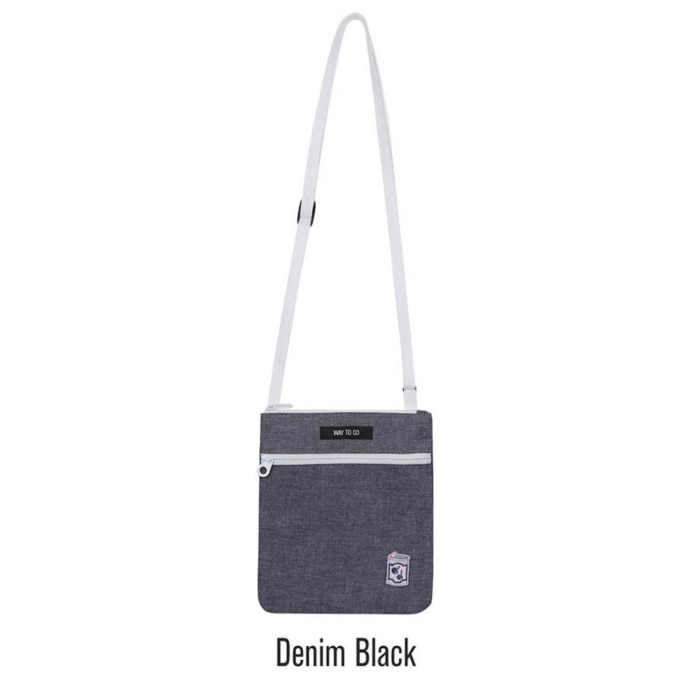 Black - Tropical travel small crossbody bag