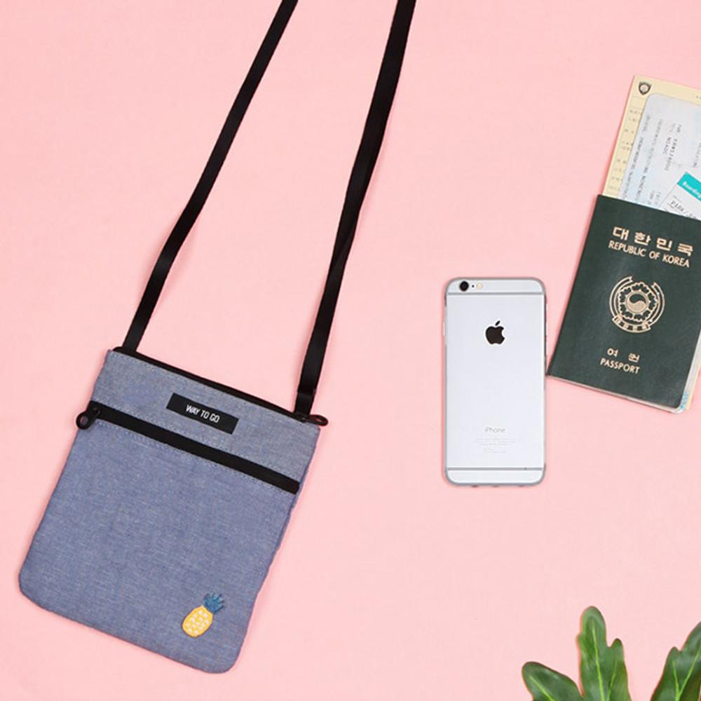 Tropical travel small crossbody bag
