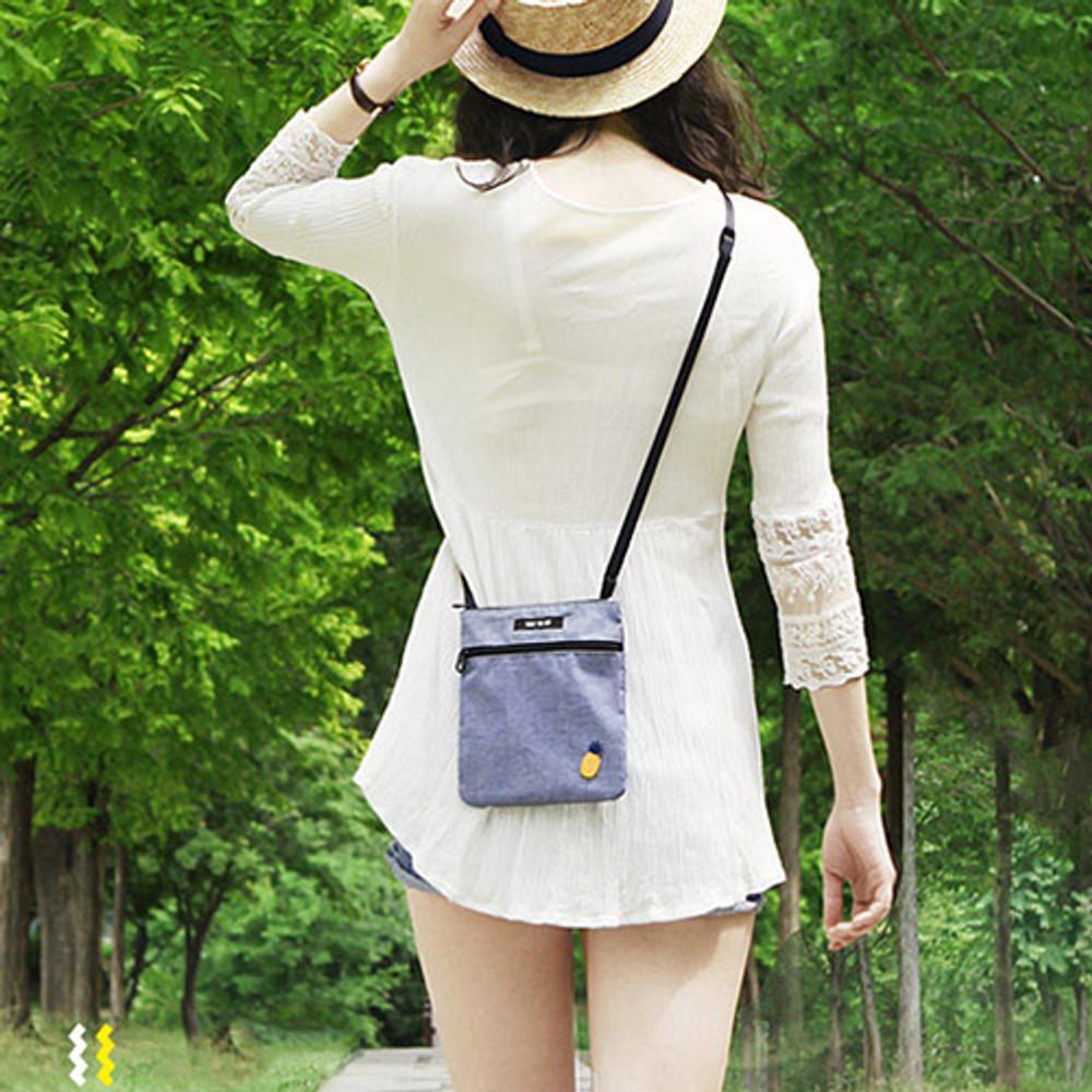 Blue - Tropical travel small crossbody bag