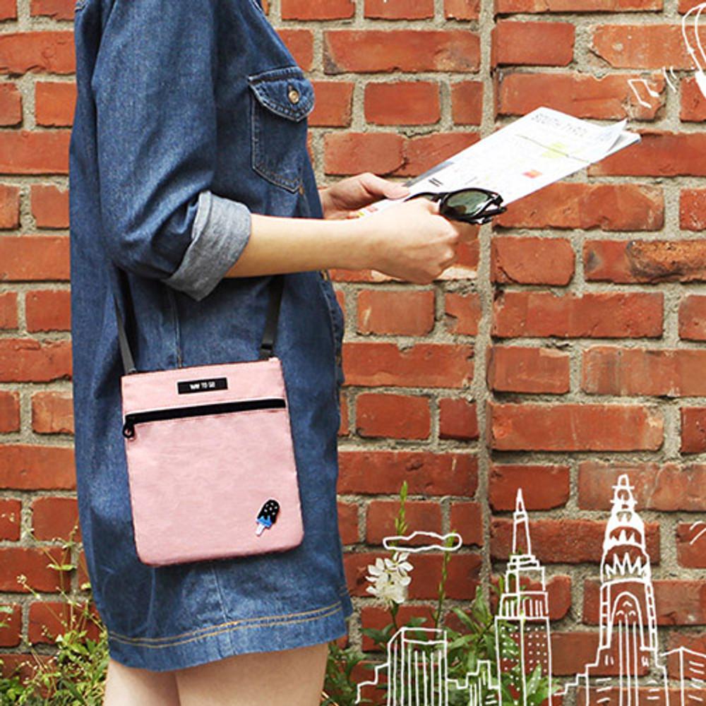 Pink - Tropical travel small crossbody bag