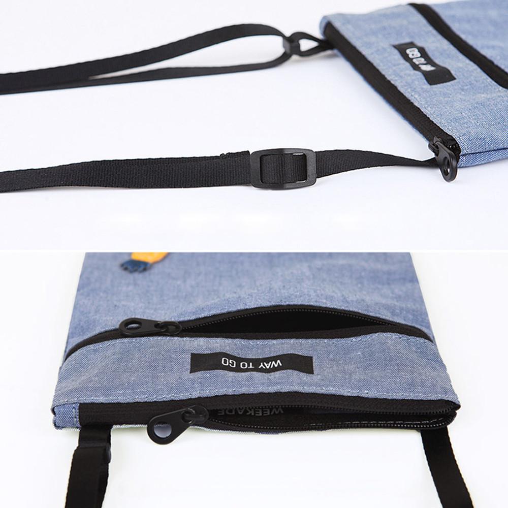 Detail of Tropical travel small crossbody bag