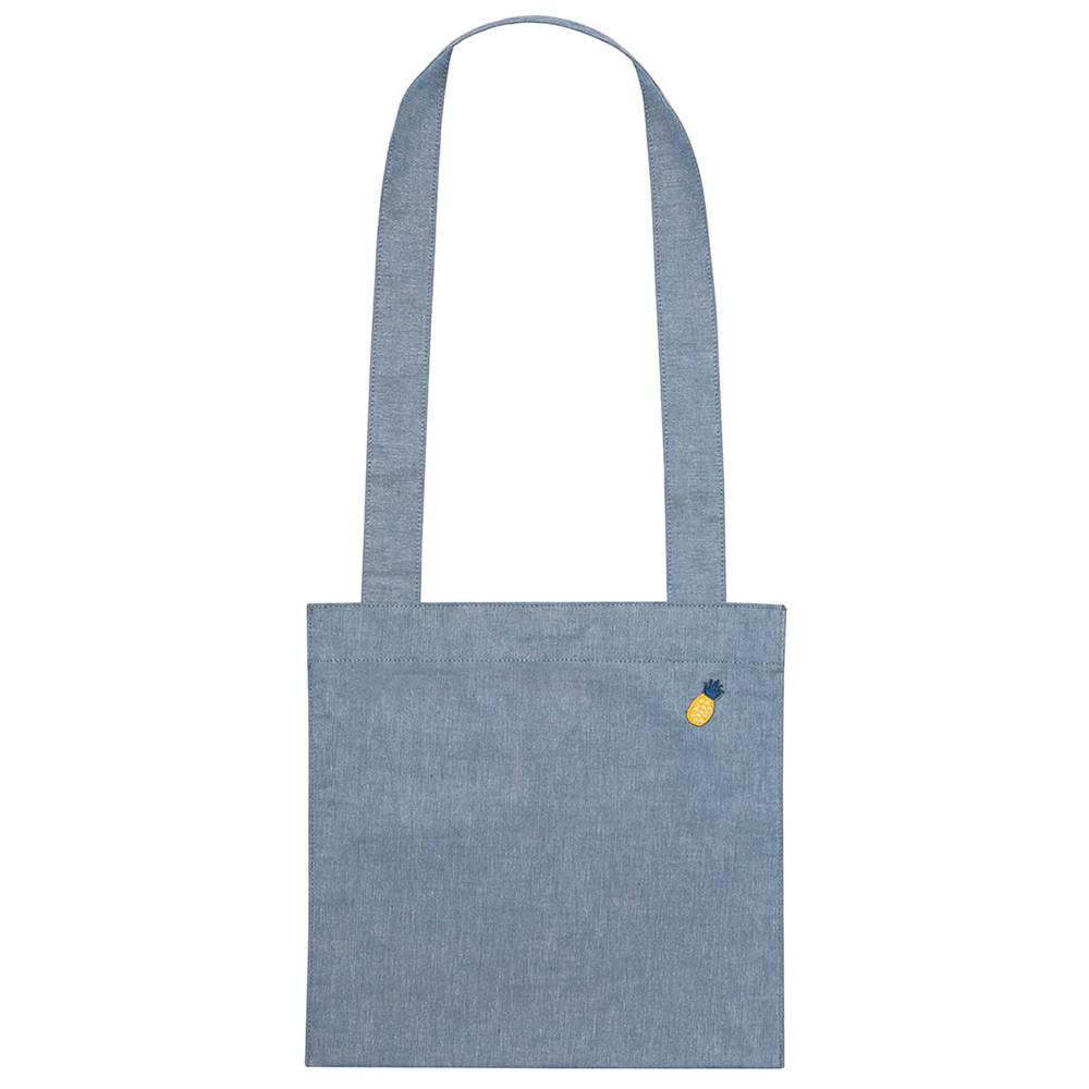 Blue - Tropical travel cotton shoulder bag