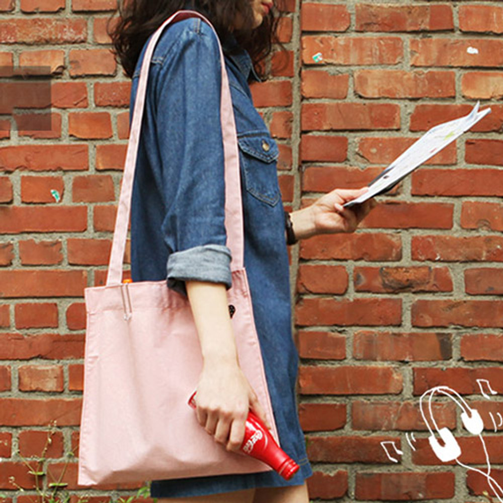 Pink - Tropical travel cotton shoulder bag