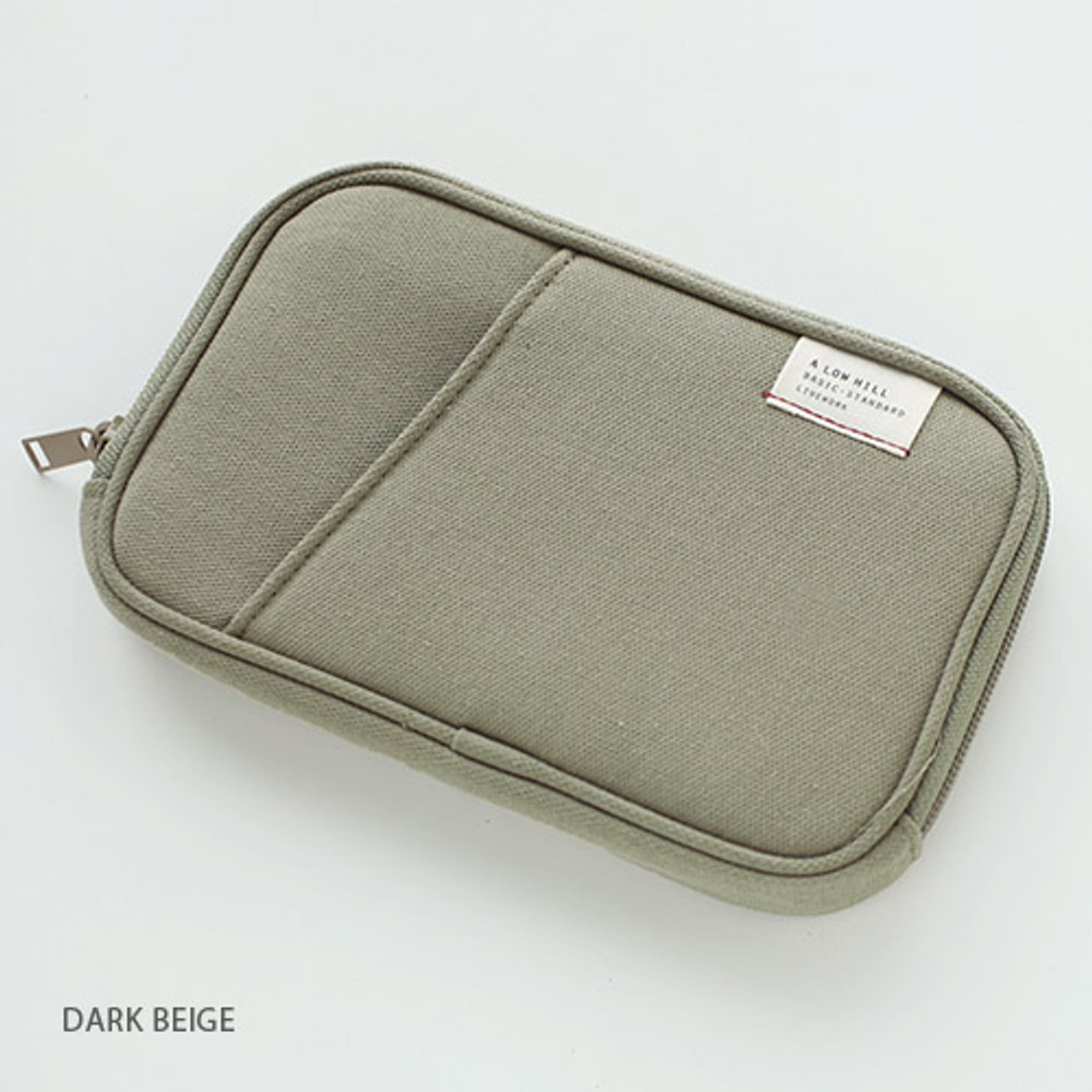 Dark beige - Travel pocket zip around wallet
