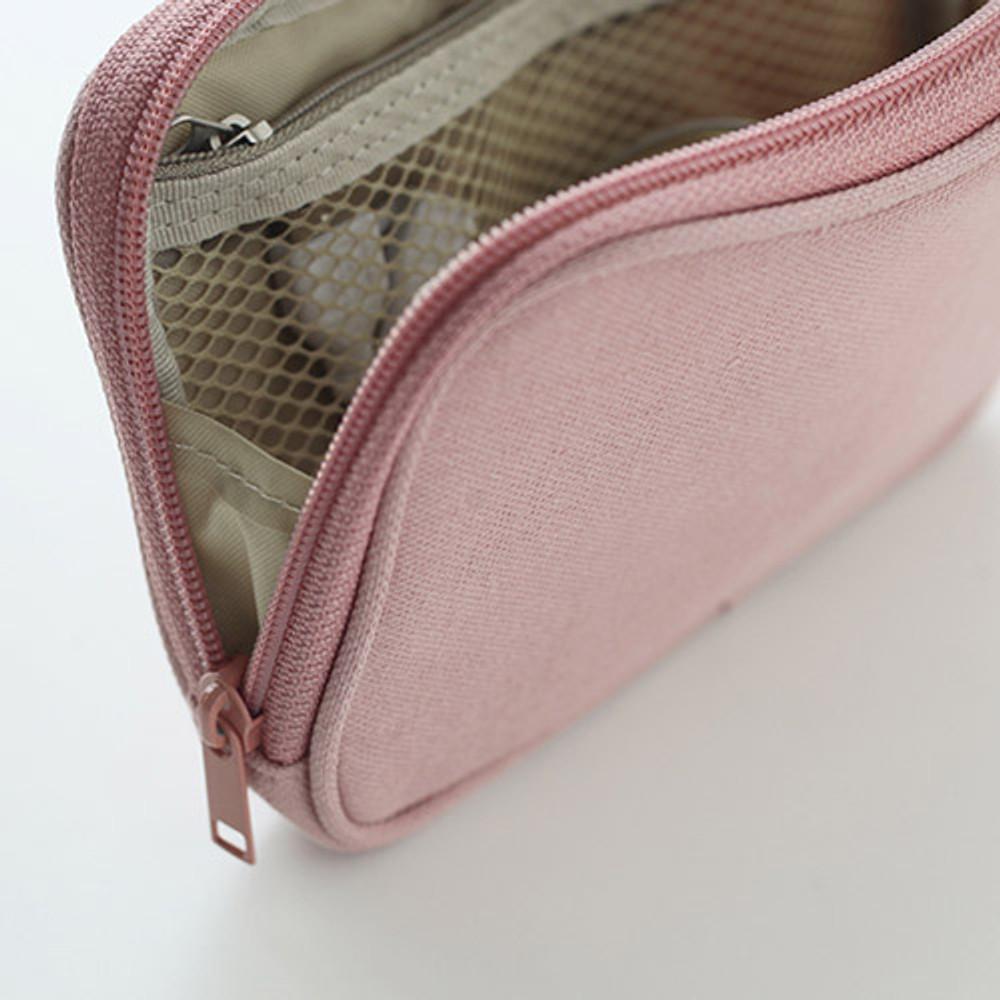 Detail of Travel pocket zip around wallet