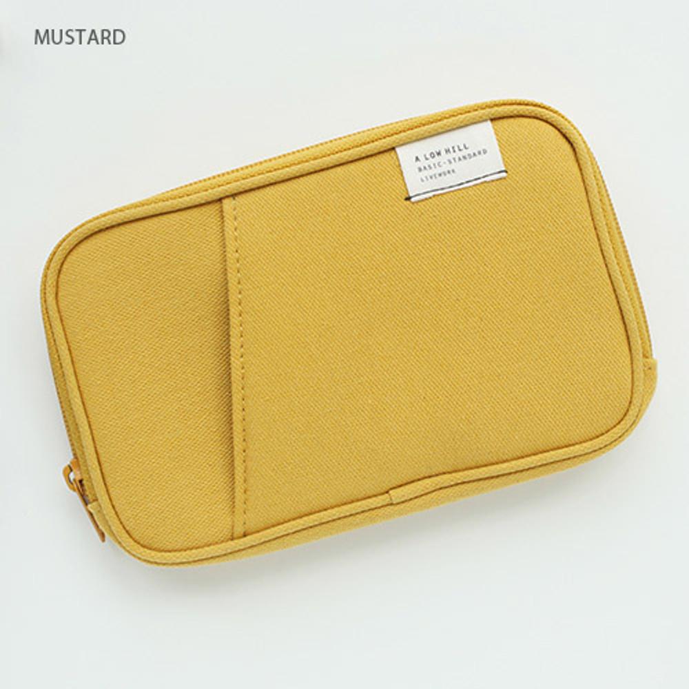 Mustard - Travel pocket zip around wallet