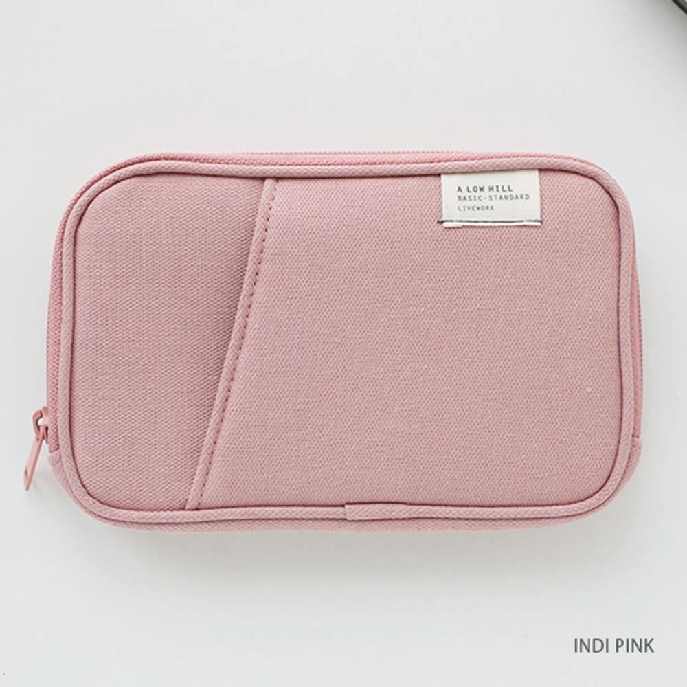 Indi pink - Travel pocket zip around wallet