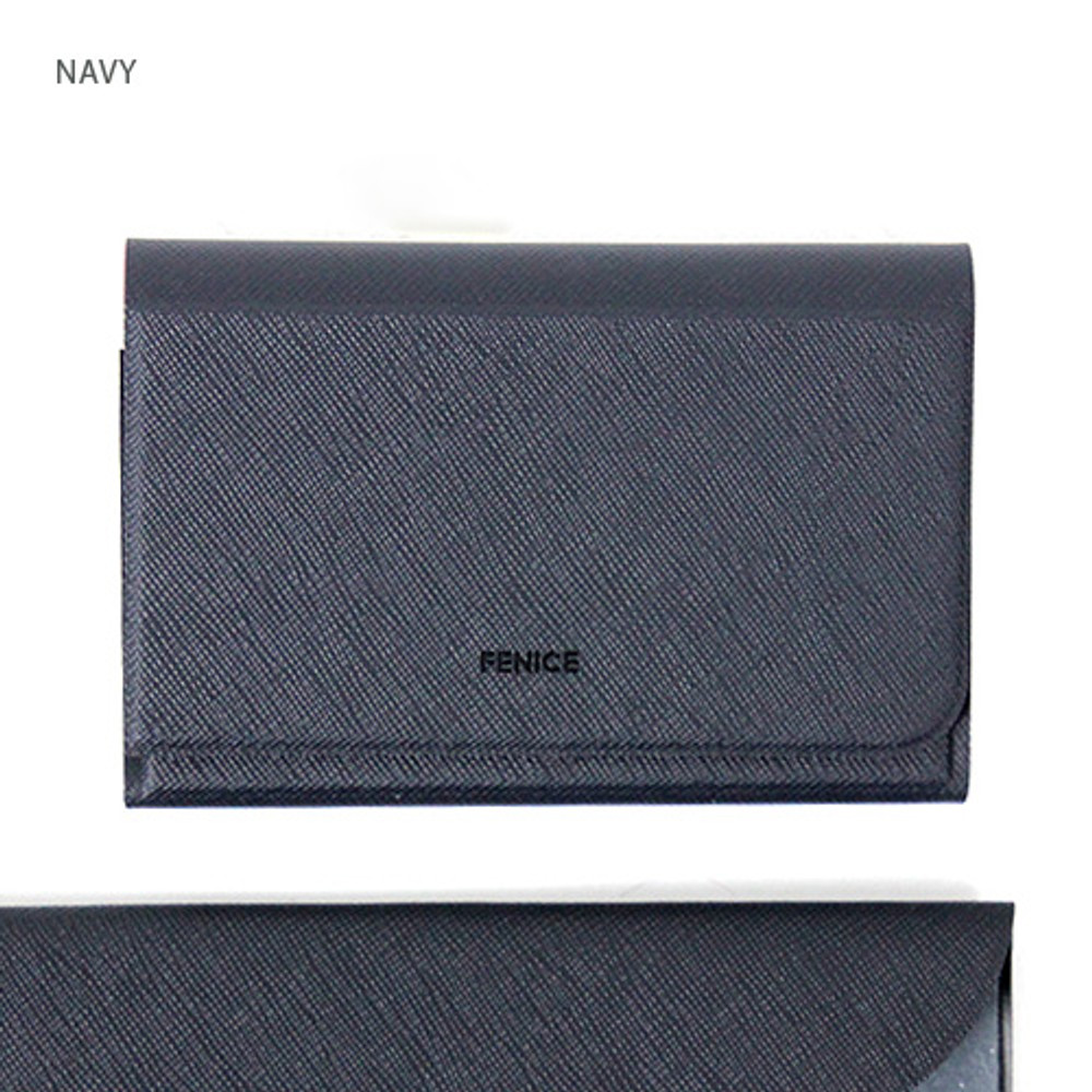 Navy - Fenice premium business card case