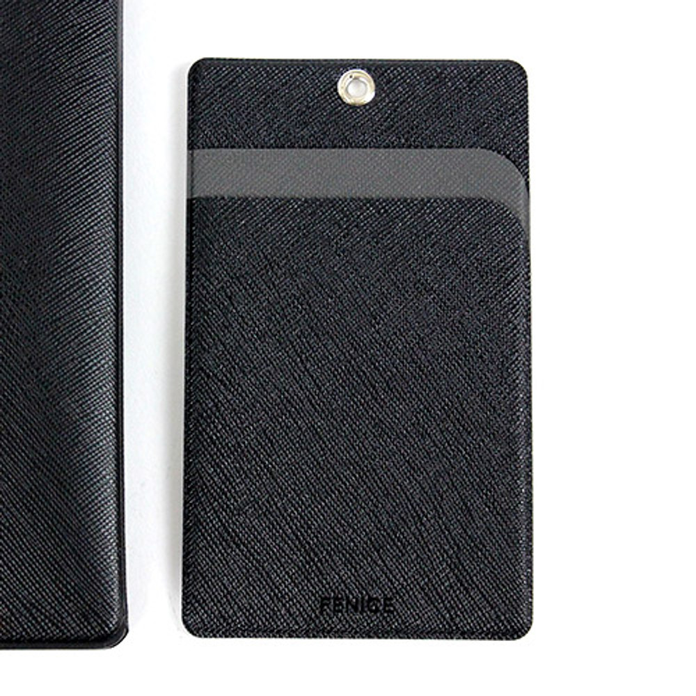 Black - Premium business flat card holder case
