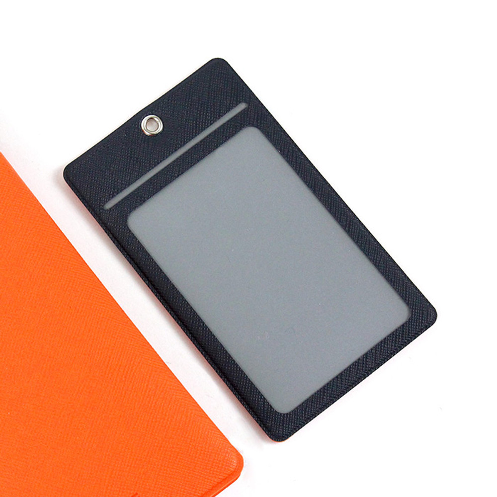 Orange - Premium business flat card holder case