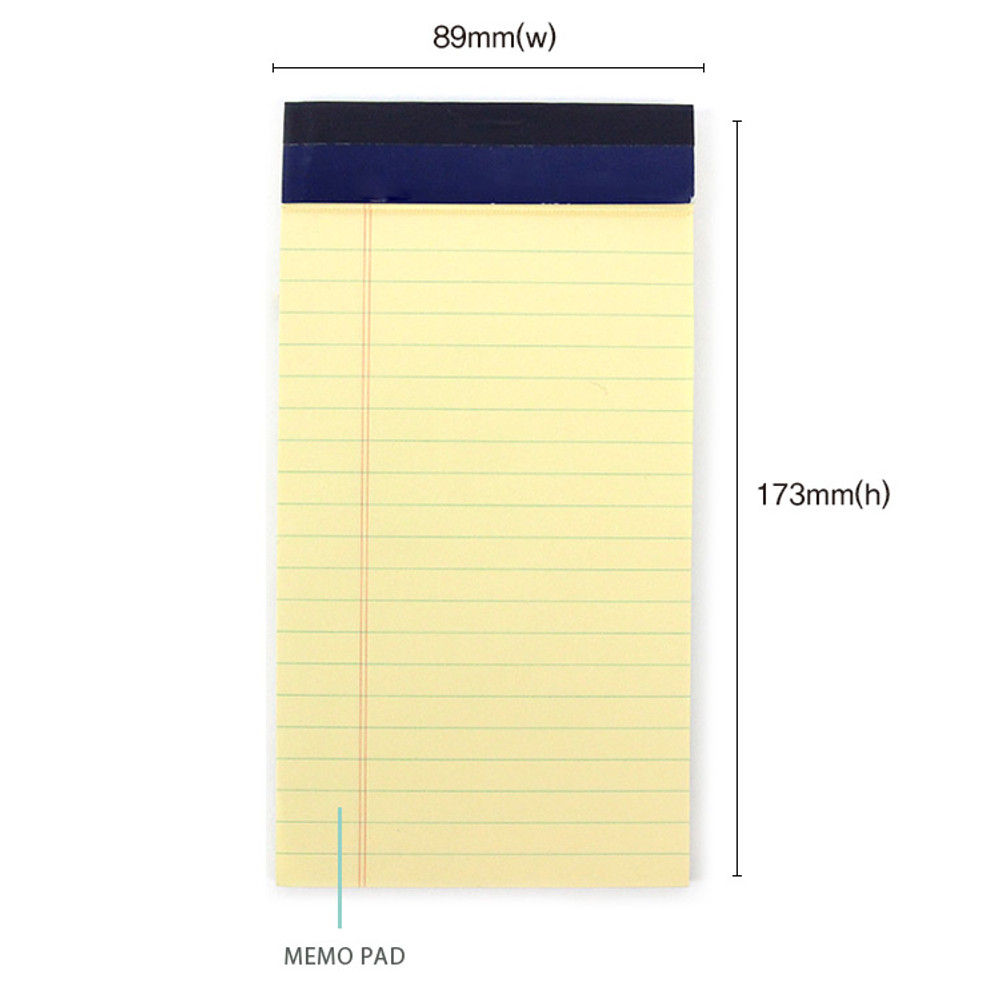 Notepad size