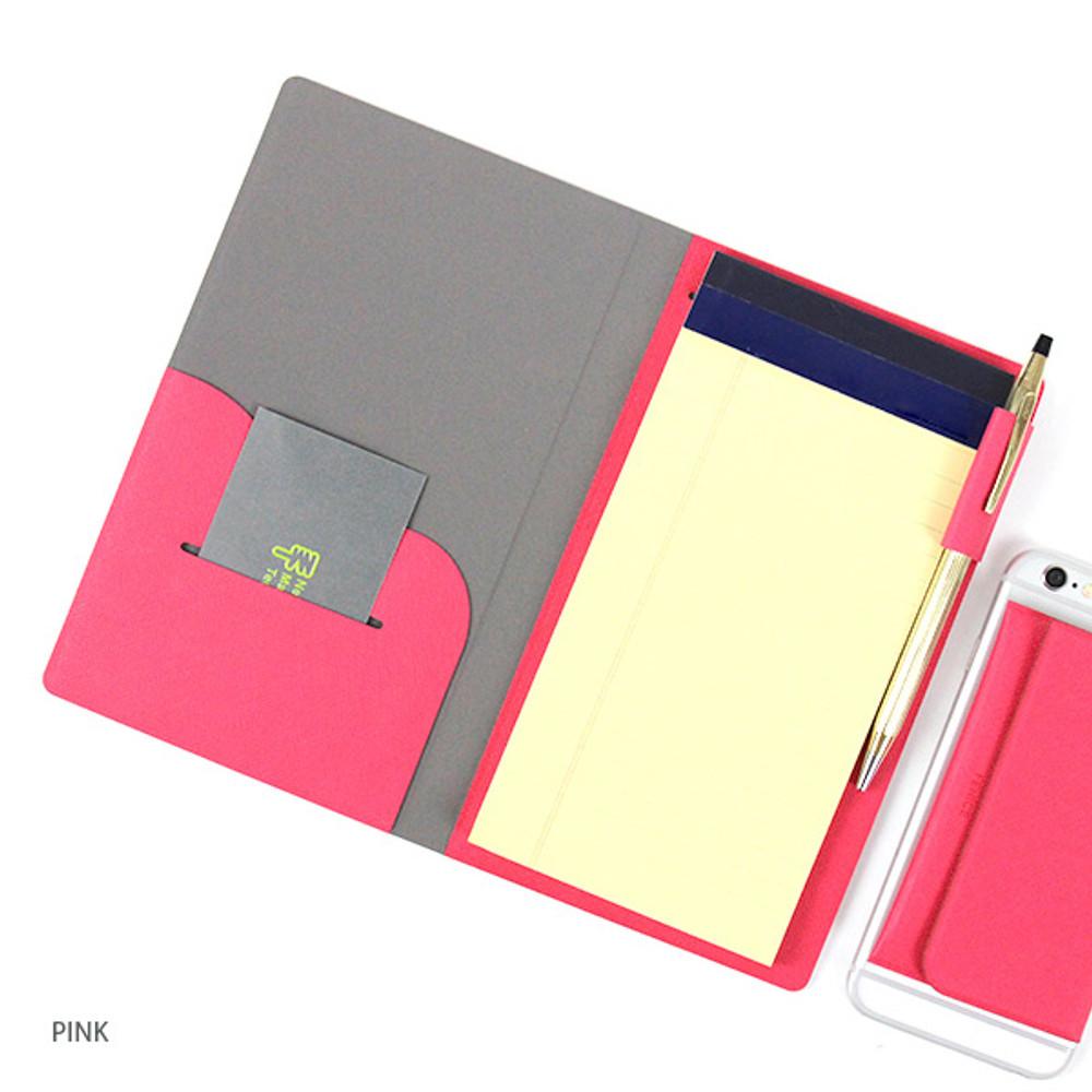 Pink - Premium business notepad holder
