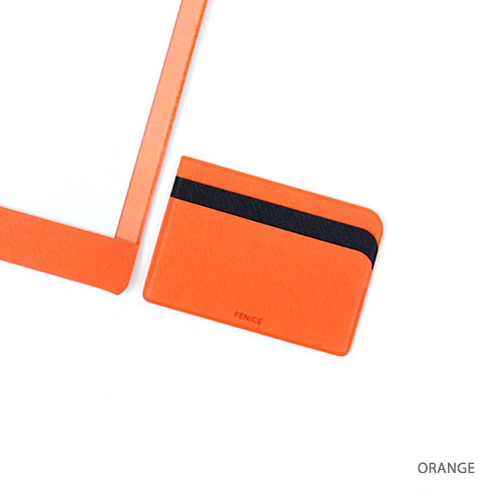 Orange - Premium business basic pocket card case