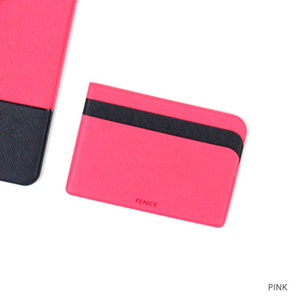 Pink - Premium business basic pocket card case