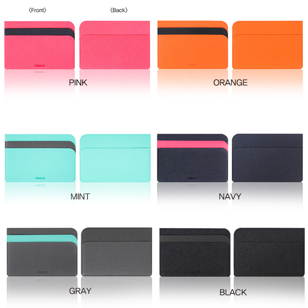 Colors of Premium business basic pocket card case