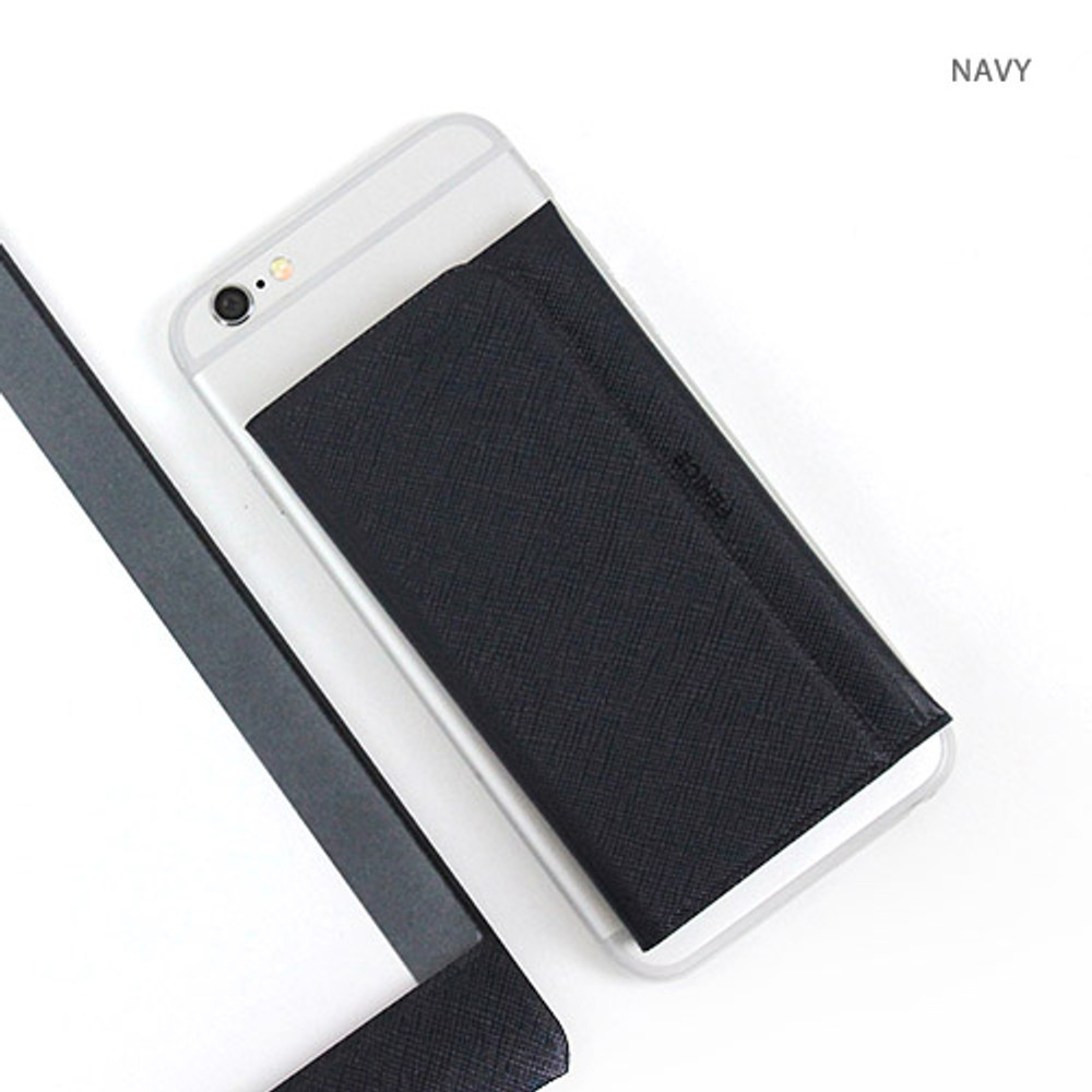 Navy - Premium business sticky pocket card case
