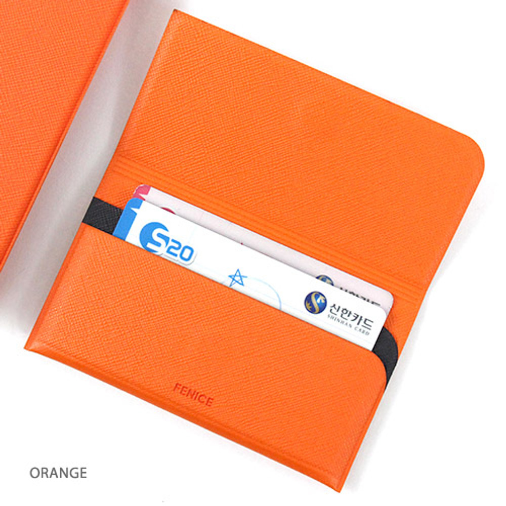 Orange - Premium business sticky pocket card case
