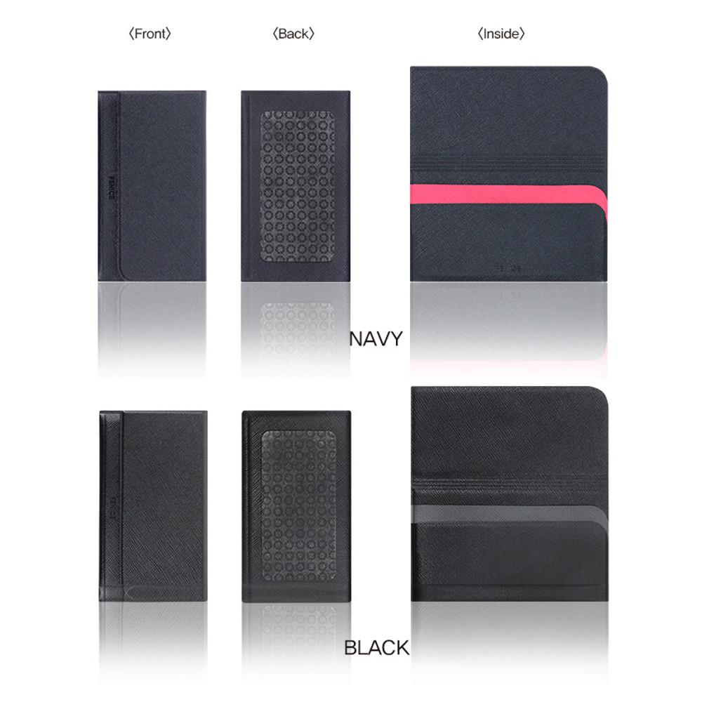Navy, Black - Premium business sticky pocket card case