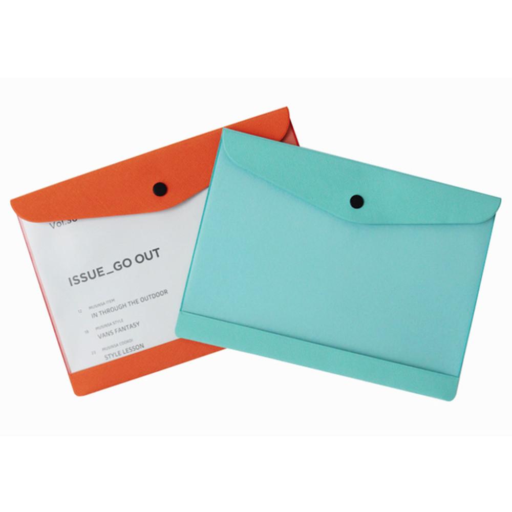 Premium business A5 clear file folder pouch
