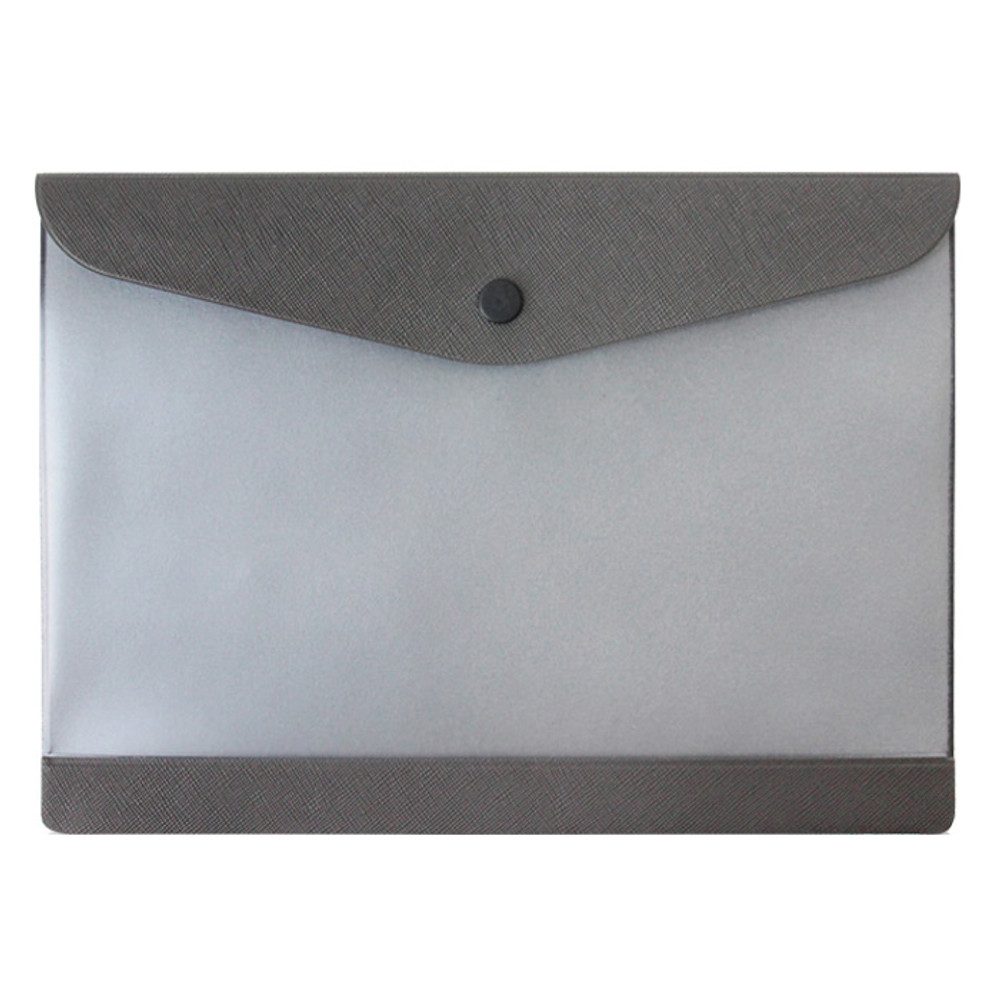Gray - Premium business A5 clear file folder pouch