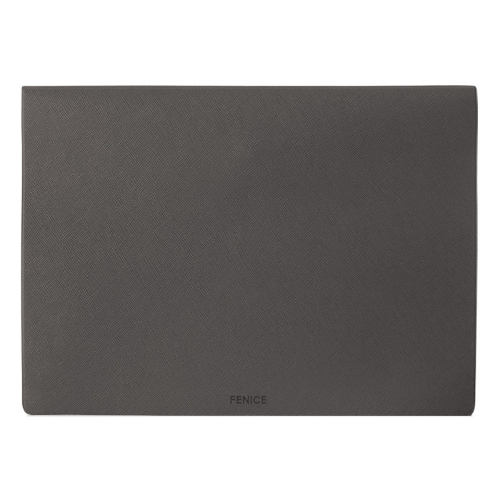 Back of Premium business A5 clear file folder pouch