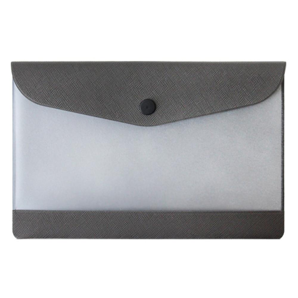 Gray - Premium business small clear file folder