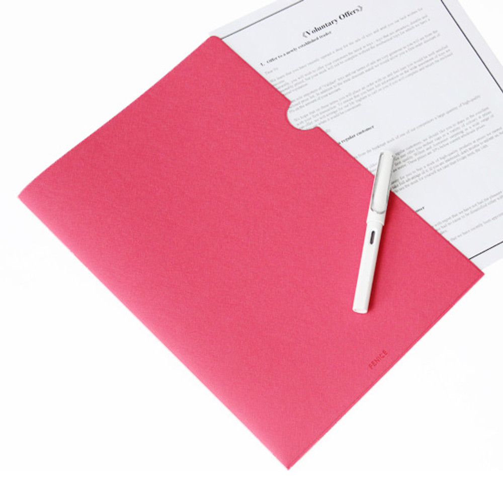 Pink - Premium business A4 document file holder