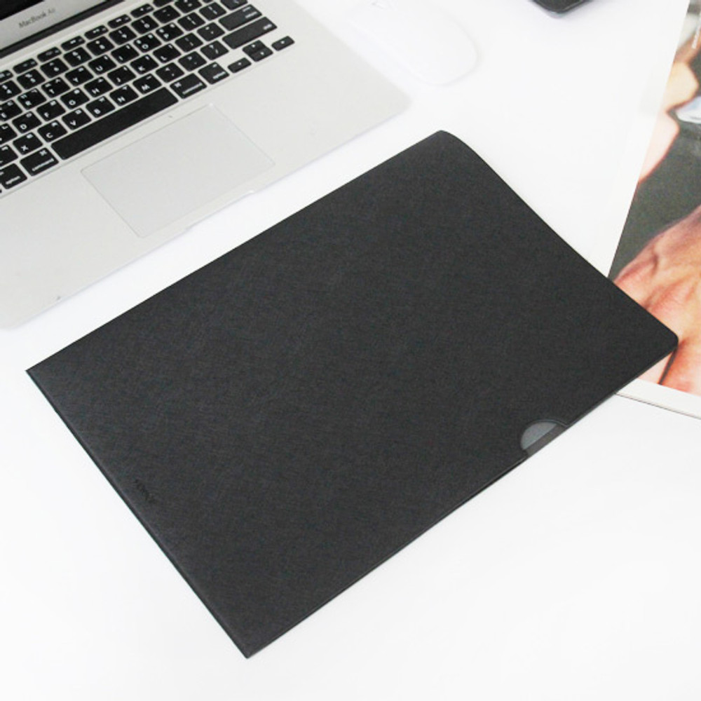 Black - Premium business A4 document file holder