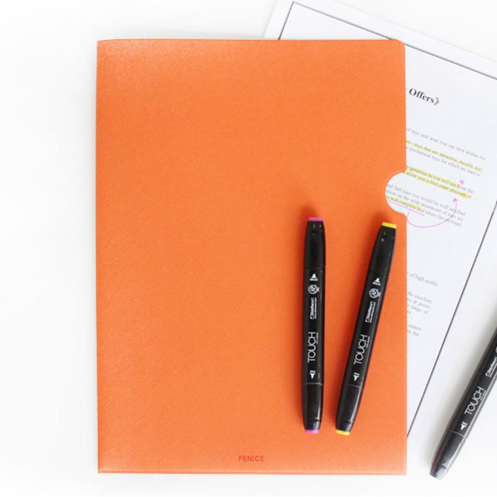 Orange - Premium business A4 document file holder