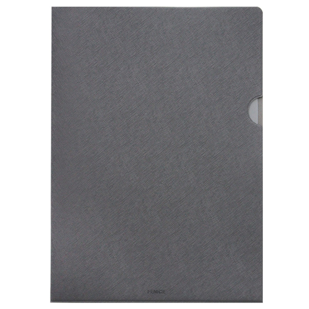 Gray - Premium business A4 document file holder
