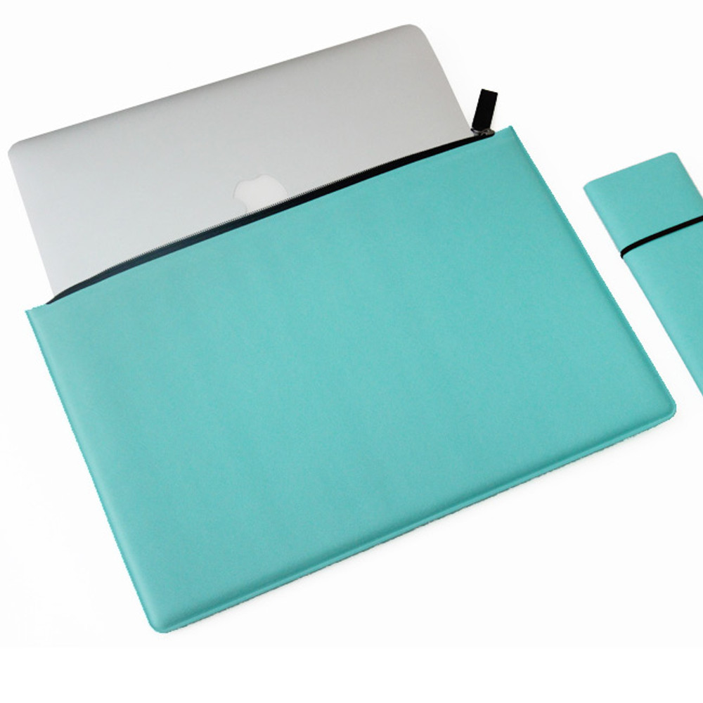 Mint - Premium business flat multi zipper pouch