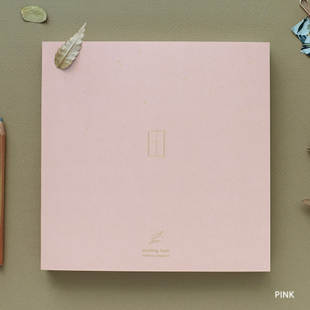 Pink - doodling large drawing notebook
