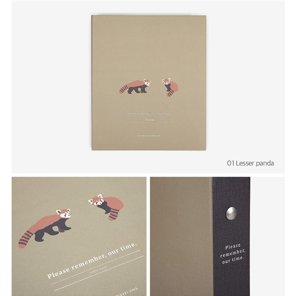 Lesser panda - Remember our time self adhesive photo album