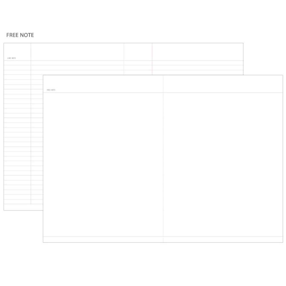 Lined & Free note - Agenda spiral undated planner