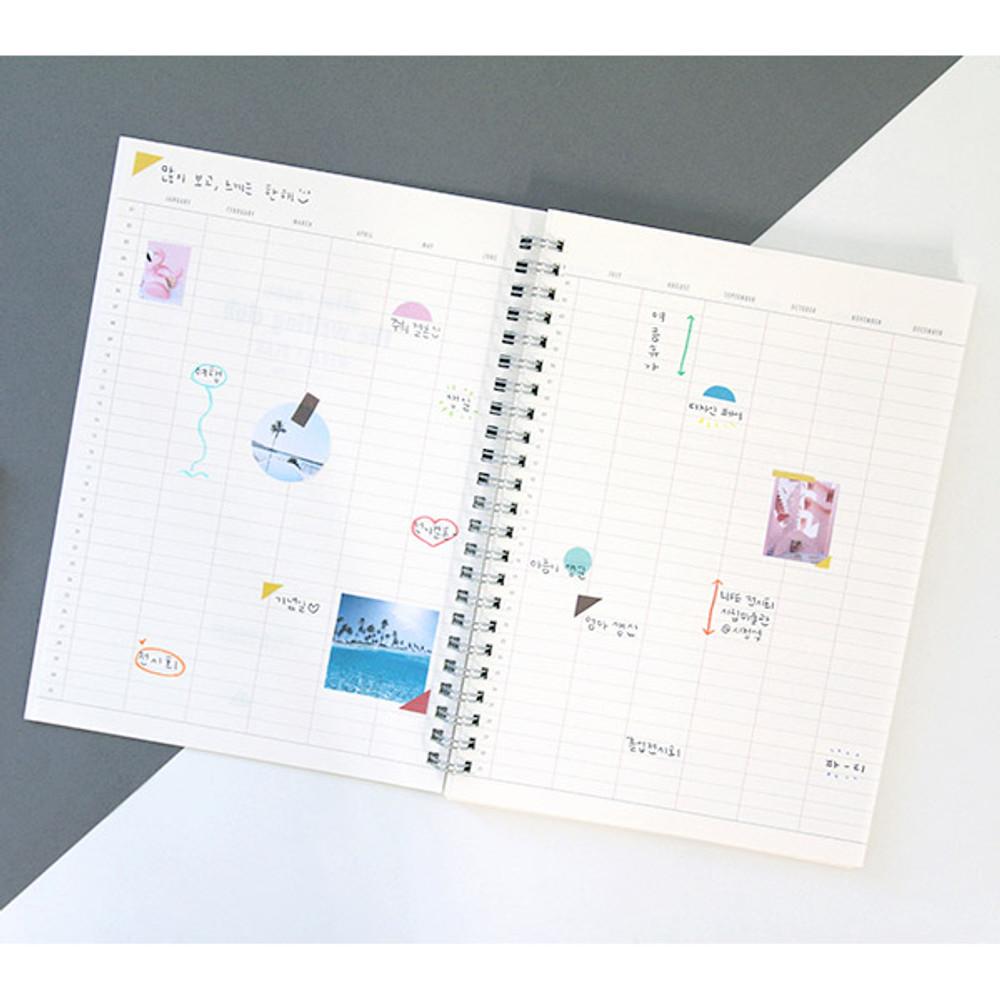Annual plan - Agenda spiral undated planner