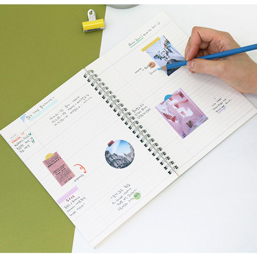 Line note - Agenda spiral undated planner