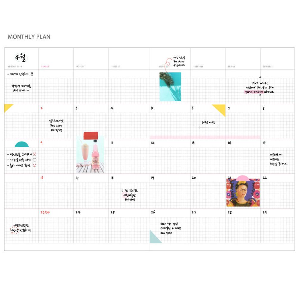 Monthly plan - Agenda spiral undated planner