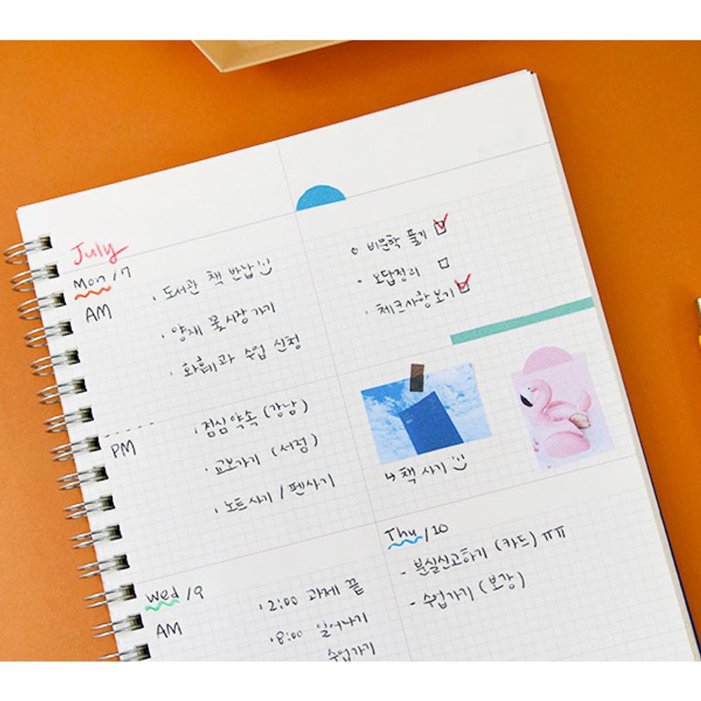 Weekly plan - Agenda spiral undated planner