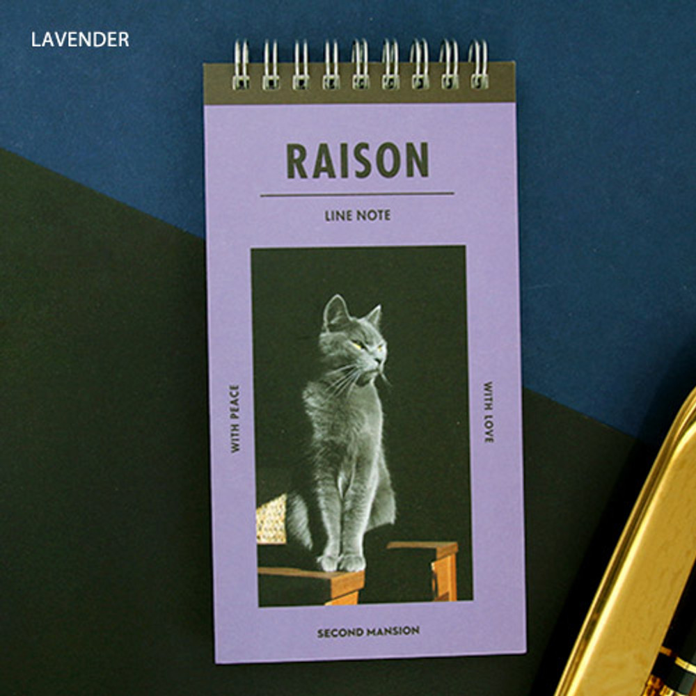 Lavender - Raison and beaute Spiral lined notepad