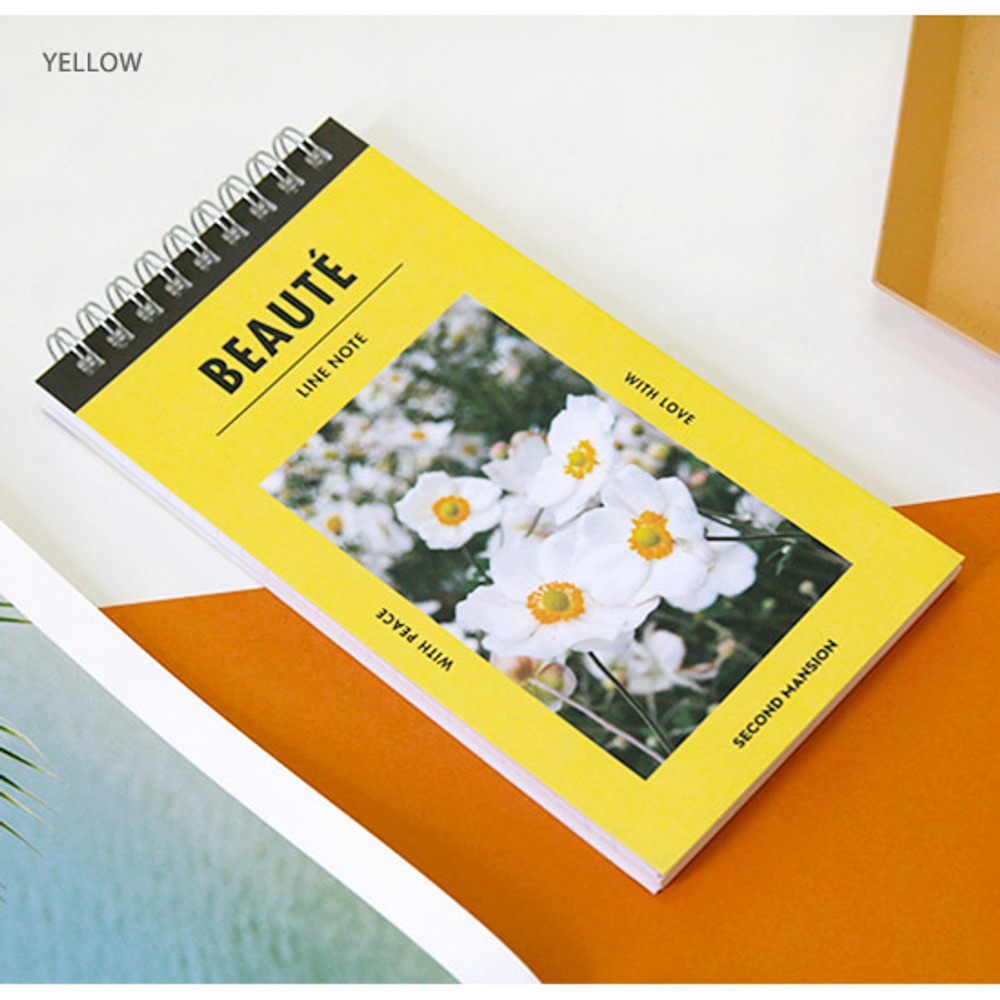 Yellow - Raison and beaute Spiral lined notepad