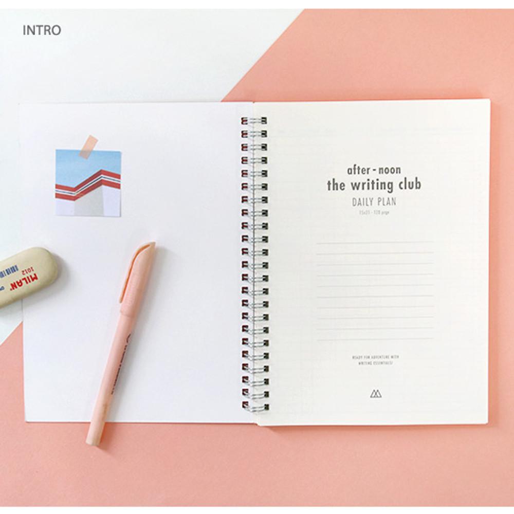 Intro - Spiral daily undated planner scheduler