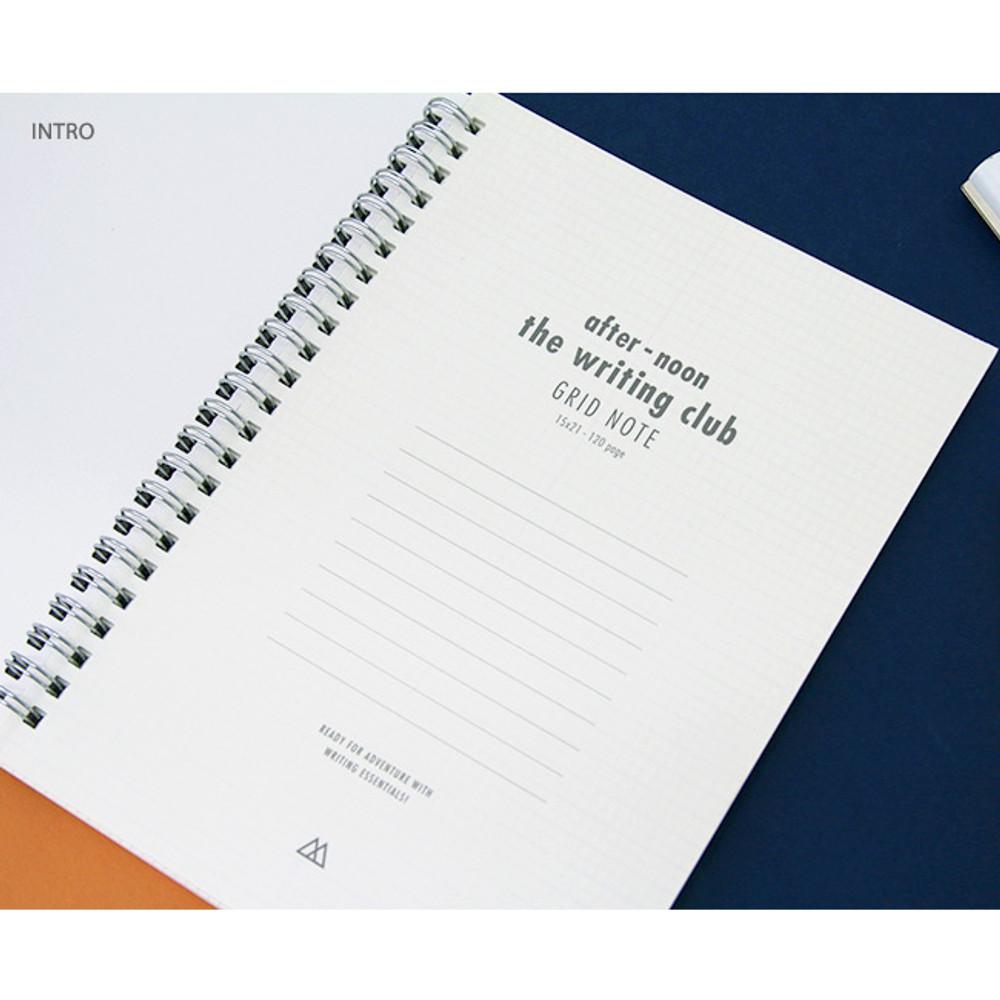 Intro - Spiral 1/4 grid notebook