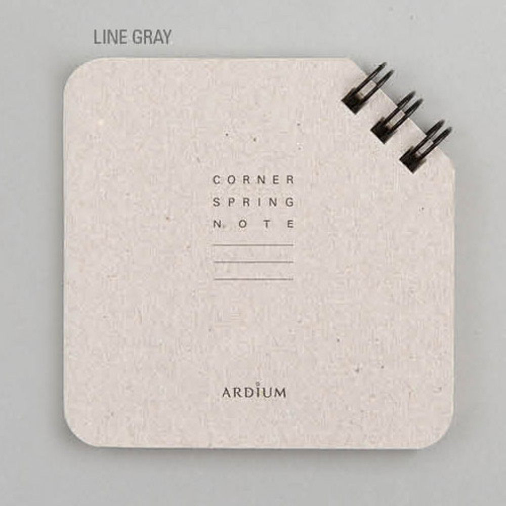 Line gray - Corner mini spiral lined/grid notebook