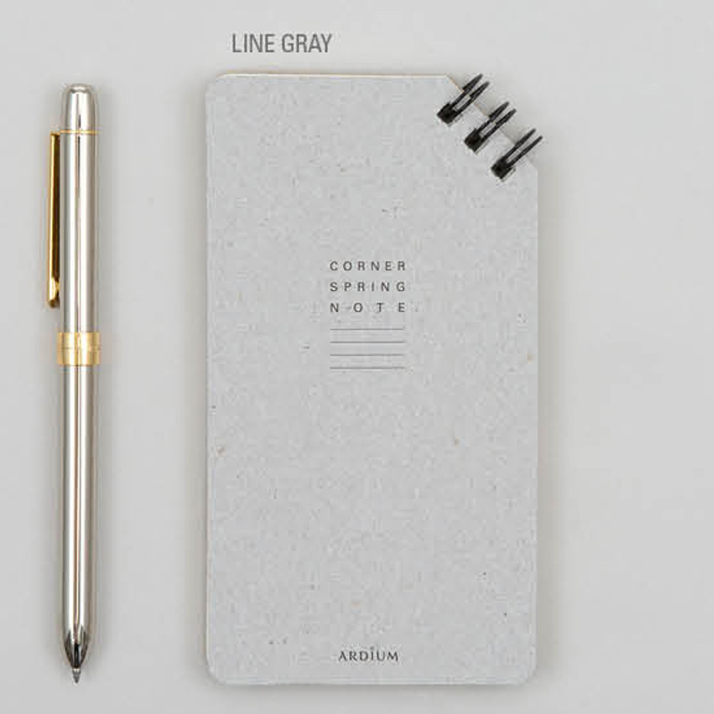Line gray - Corner small spiral lined/Grid notepad