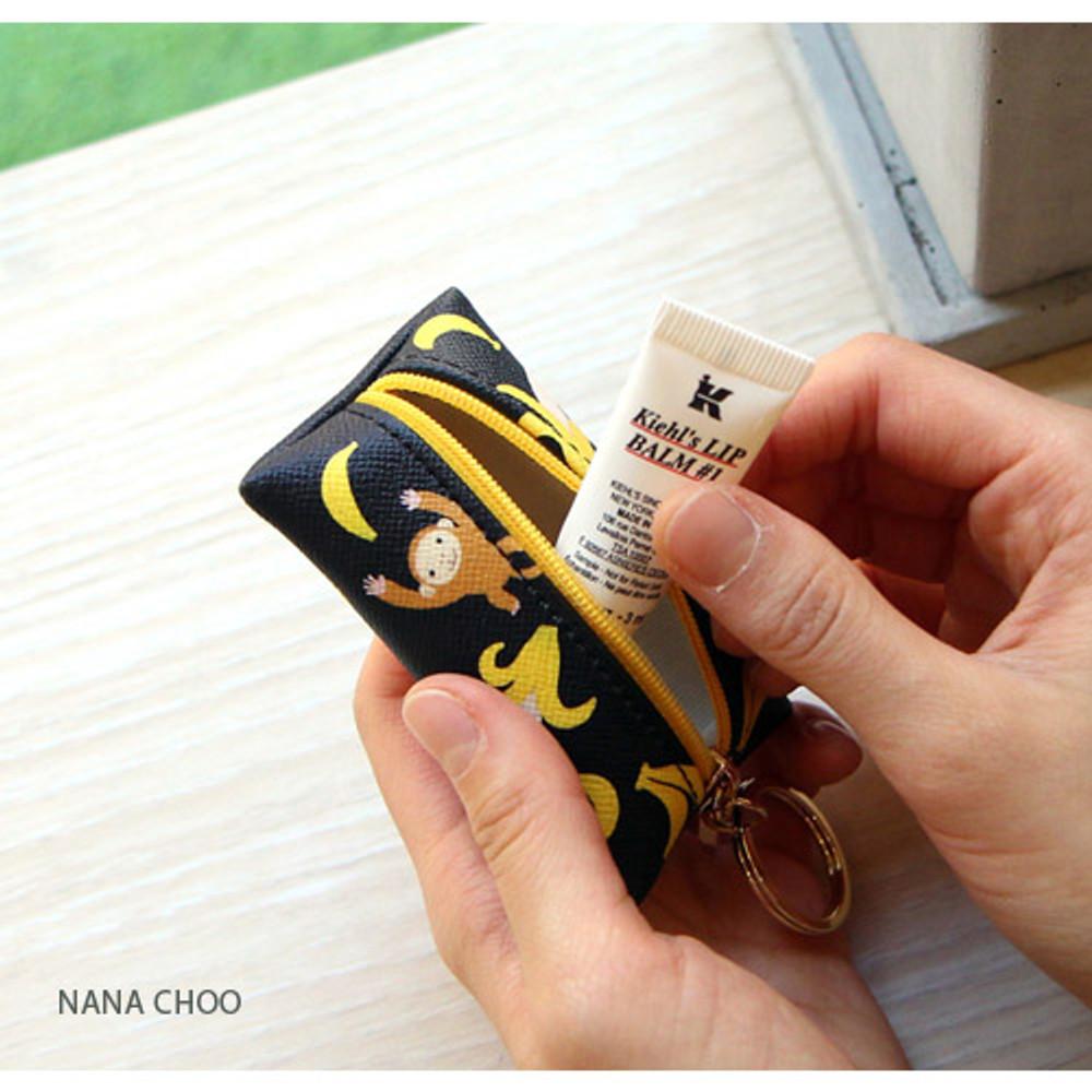 Nana Choo - Choo Choo petit key ring with small zippered case