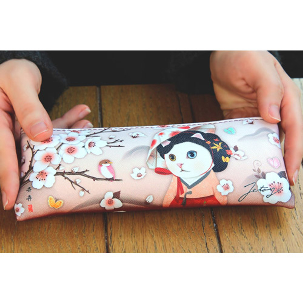 Choo Choo slim zipper pencil case