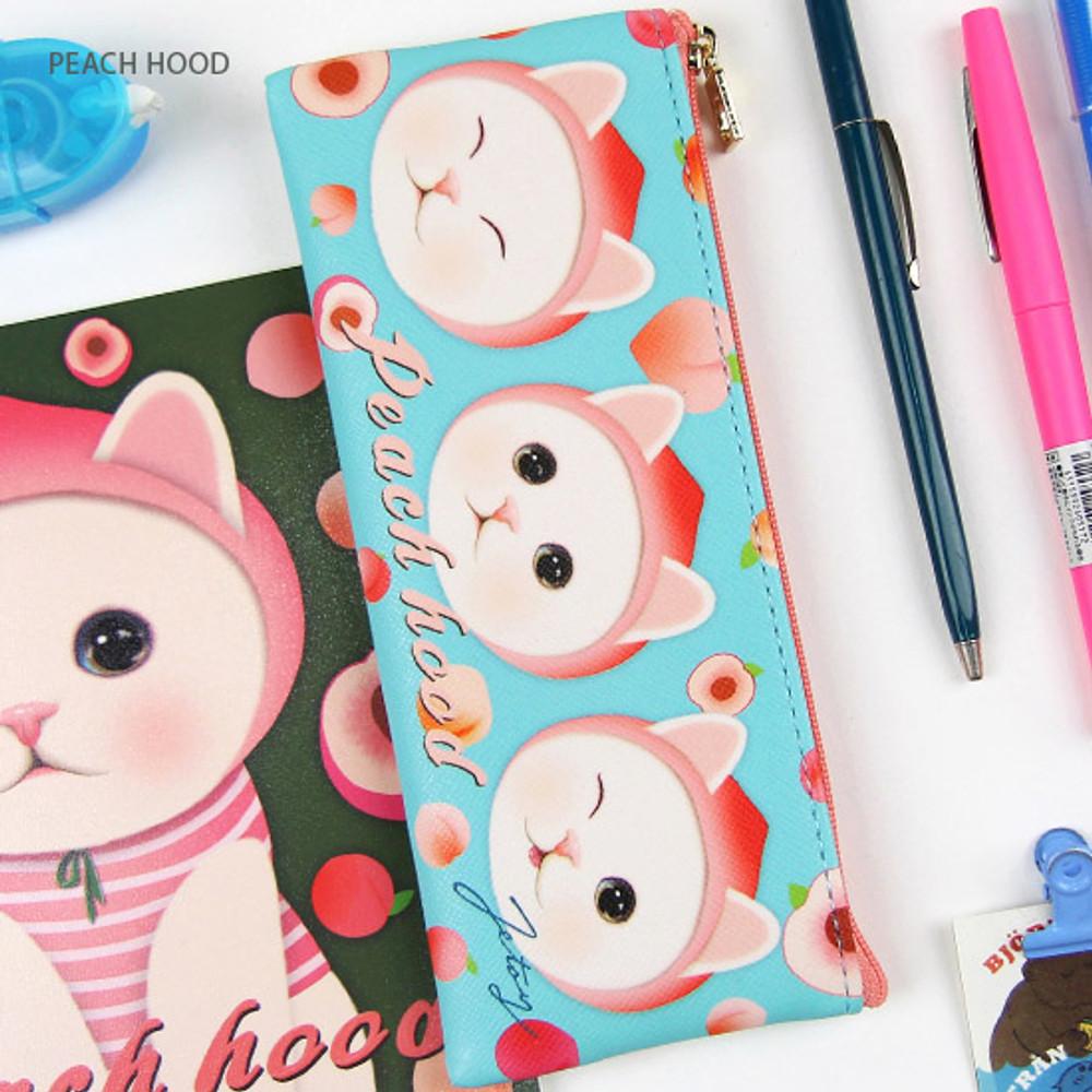 Detail of Choo Choo slim zipper pencil case