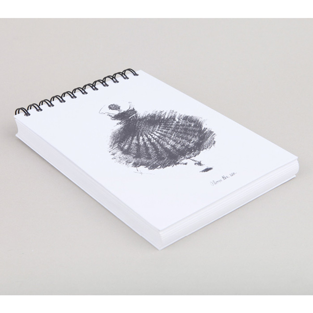 Above the sea spiral A5 drawing notebook