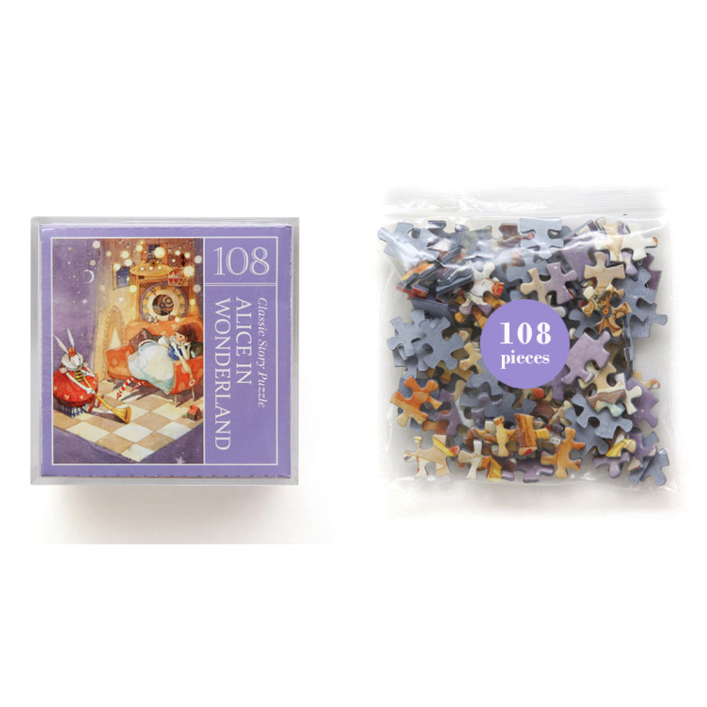 Alice in wonderland 108 piece jigsaw puzzle - Purple