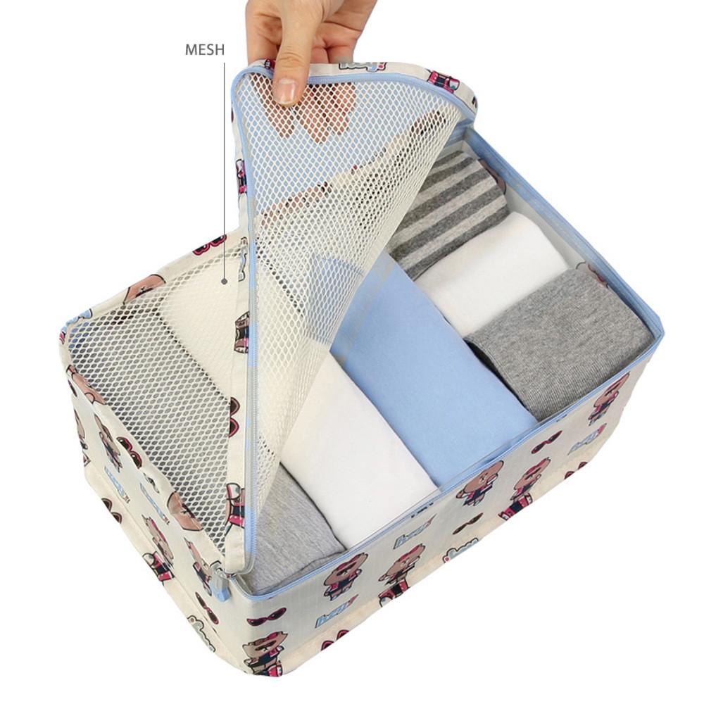 Line friends small travel mesh bag packing organizer